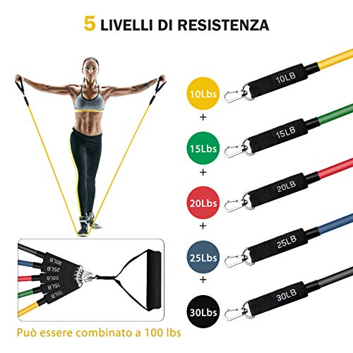 Zoom IMG-1 topelek elastici fitness banda elastica