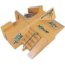 TT-KID 8pcs Skate Park Kit Piezas de rampa para Tecnología de Cubierta diapasón Mini patín del dedo Fingerboards Parques Ultimate (8 PCS)