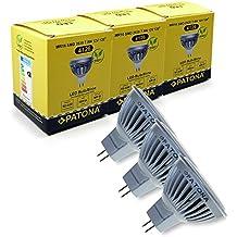 3x Bombilla LED MR16 SMD 2835 7,5W 12V 6500K 560lm coldwhite 55W