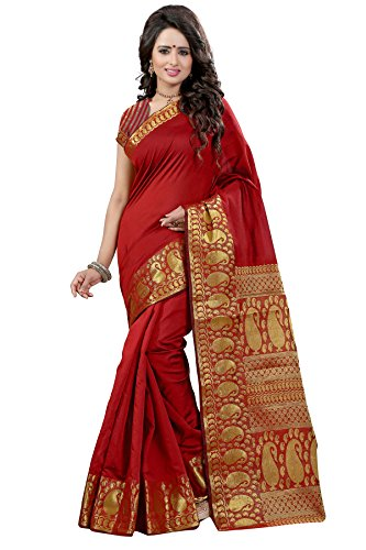 sarees (Women\'s Clothing Saree For Women Latest Design Wear Sarees Collection in Multi-Coloured PolyCotton Material Latest Saree With Designer Blouse Free Size Beautiful Bollywood Saree For Women Par