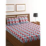 Bombay Dyeing Elixir 144 TC Cotton Double Bedsheet with 2 Pillow Cover - Multicolor
