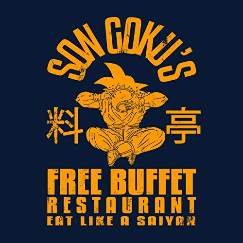 Son Gokus Free Buffet Dragon Ball Z Women's Vest Navy Blue