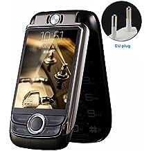Blt V998del doppio schermo, Senior, Patzbuch vibrazioni touch screen Dual SIM Magic Voice cellulari per anziani