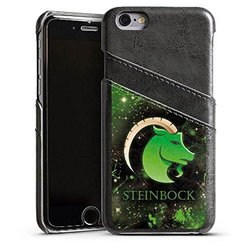 Apple iPhone 5s Housse Étui Protection Coque Signes du zodiaque Bouquetin Capricorne Astrologie Étui en cuir gris