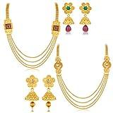 Sukkhi Ravishing Jalebi 4 String Gold Pl...