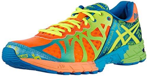 ASICS - Gel-Noosa Tri 9, Scarpe Da Corsa da uomo Arancione(Orange (3004-Flash Orange/Flash Yellow/Blue))