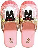"Senko pantofola pantofole Kiki Delivery Service ""Jiji & Flower"" Dimensioni: 24(US 6.5) rosa dal Giappone"
