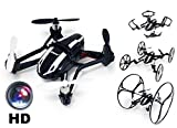 Günther Large Electronic RC Drone UDI U841 Nano RX4 3D Quadcopter with HD Camera 4 Channel 2.4 GHz 6–AXIS, Black