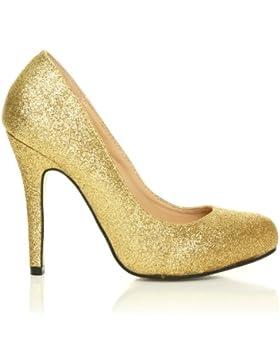ShuWish UK, Scarpe col tacco donna Oro Glitter oro