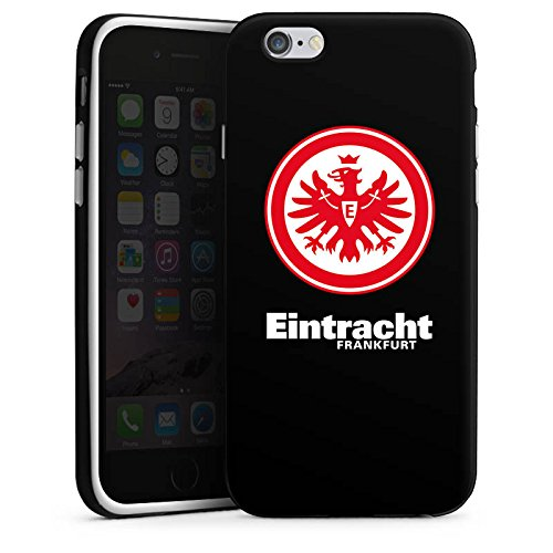 Apple iPhone 7 Silikon Hülle Case Schutzhülle Eintracht Frankfurt Fanartikel Fußball Wappen Silikon Case schwarz / weiß
