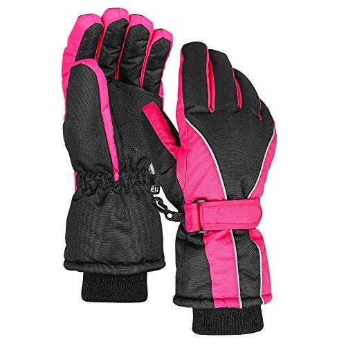 Terra Hiker Wasserdichte Skihandschuhe Damen Winter Thinsulate Handschuhe für Radfahren (Rot, S)