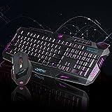Slri Keyboard Mouse Set, Home Backlight Optical USB Wired Game Mice Keyboard Set