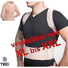 """TEG533L la función de enfriamiento y - encaja T-talla """"XL"""" - médico faja ortopédica para espalda estabilizador de recto soporte para de alta calidad de neopreno - espalda - con tirantes ajustables y 12 Imanes"""