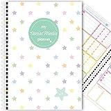 My Social Media Planner (12 mesi) social networking, blog, blogger, organizzatore, A5 (Rainbow Stars)