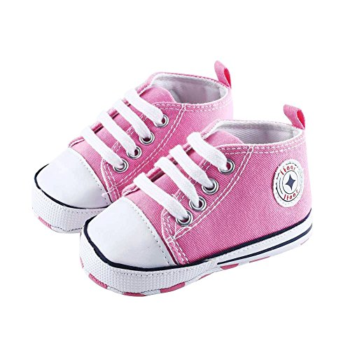 Koly Scarpe per Bambini Scarpe per Neonati Morbidi per Neonati Bambino Sneaker Neonato a 6 Mesi (Navy) 1FXlm8y4A