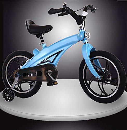 BIKE Mâle et femme Bicyclette pour enfants 16 pouces en alliage d'aluminium Un cadre ultra-léger Poussette bébé de 5-10 ans avec roues auxiliaires de sécurité Garde d'enfants Voiture étudiante Vélo pour enfants Vélo vélo Bicyclette de vitesse non variable ( Couleur : C )