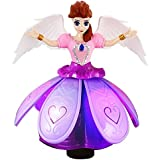 Princess Music Dancing Doll & Rotating Angel Girl Flashing Lights With Music Gift Toy For Kids,Baby