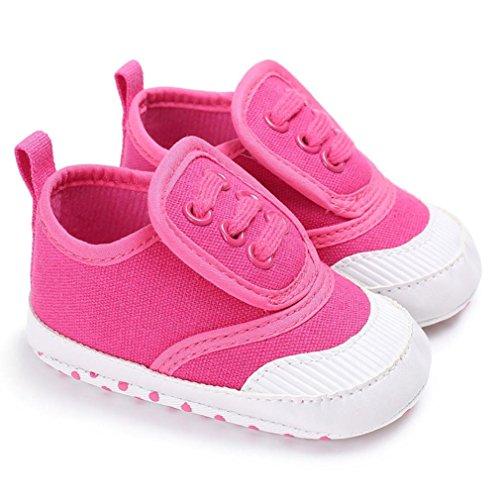 QinMM Baby Schuhe Neugeborenen junge Mädchen Krippe Soft Sole Schuh Sneakers (6-12M, Heißes Rosa) (Kinder Stern Kostüm Geburt)