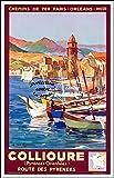Herbé TM COLLIOURE Rf586 - Poster/Reproduction A3+(33x48cm) d'1 Affiche Ancienne/Vintage...