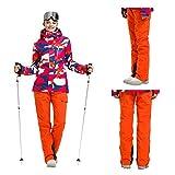 Deylaying Damen Skihose - Winter Wasserdichte Hose Winddicht Schneehose Tragen Sie Beständig Ski Snowboard Softshellhose