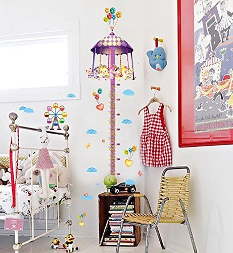 UberLyfe Fun Merry Go Round Height Chart Wall Sticker (Wall Covering Area: 185cm x 40cm) - WS-000729  available at amazon for Rs.249