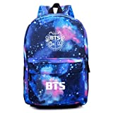 Venaster Starry Sky Backpack, Unisex School Bag Travel Bag Canvas Rucksack Satchel Hiking Bag Galaxy Knapsack