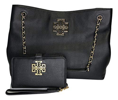 Tory Burch Britten Dreifach-Fächer Britten Smartphone Wallet, Schwarz (schwarz), X-Large