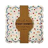 Kleine Pappteller / Kuchenteller aus der Serie 'Toot Sweet Spotty' von Meri Meri