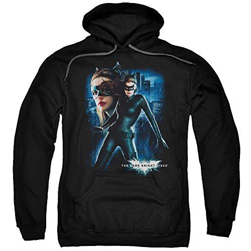 Trevco Herren Dark Knight Rises Catwoman Adult Pull-Over Hooded Sweatshirt Kapuzenpulli, Black, X-Groß