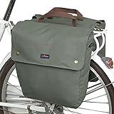 Tourbon Tela Impermeabile Bicicletta Sedile posteriore Carrier bagagli borsa ciclismo doppio Roll-up Borsa posteriore (verde)