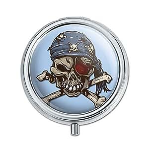 Pirate Tête de mort Pill Boîte Motif