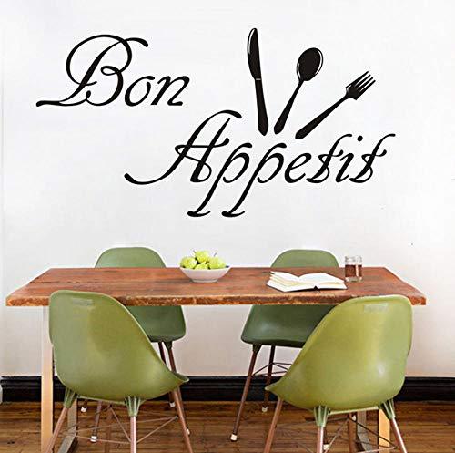Mode dekoration diy bon appetit charakter küche aufkleber geschirr abnehmbare dekoration wandaufkleber frankreich sagte 59x31 cm