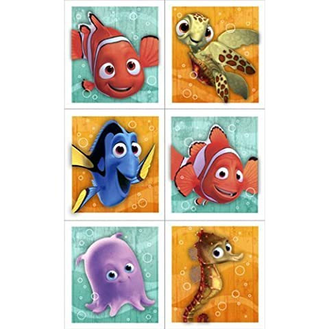 Disney Nemo's Coral Reef Sticker (4 sheets) Party Accessory by Hallmark [Toy] (English Manual)