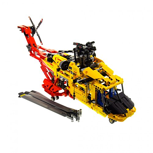1 x Lego Technic Set Modell Airport 9396 Rescue Helicopter Hubschrauber gelb rot Technik incomplete unvollständig (Lego Rescue Set)