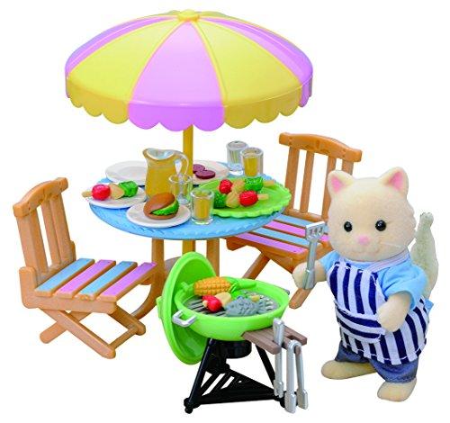 Sylvanian Families - 2239 - Poupées Et Accessoires - Set Barbecue de Jardin