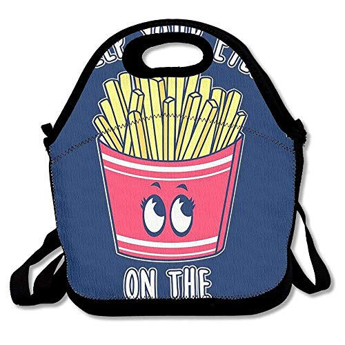 fengxutongxue Reusable Picnic Lunch Bags Lunch Tote Keep Eyes On Fries Lunch Box for Men Women Adults Kids Toddler Nurses - Tote Friesen