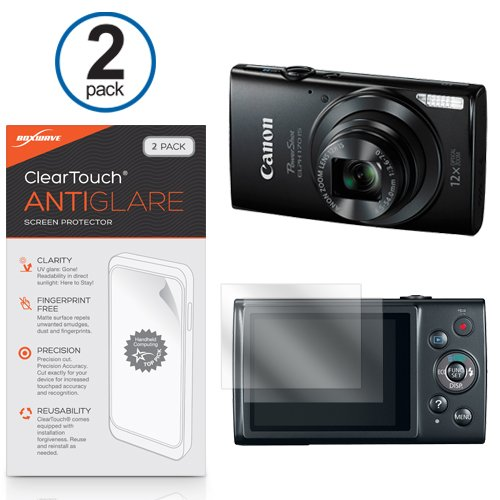 canon-powershot-elph-170-protector-de-pantalla-r-boxwave-cleartouch-2-pack-y-antihuellas-pelicula-ma