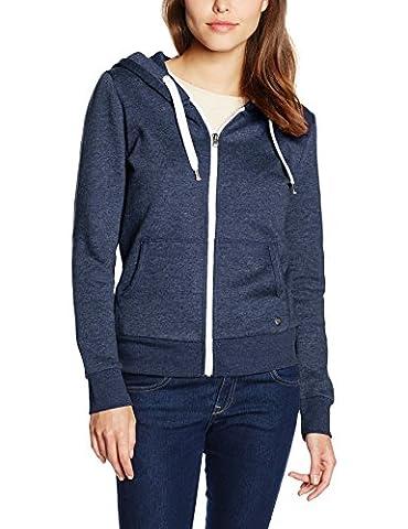 ONLY Damen Jacke Onlfinley LS Zip Hood Noos Blau (Night Sky Detail:Melange), 38 (Herstellergröße: