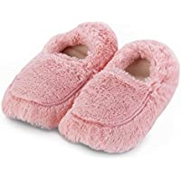 Warmies luxuriöse, gemütliche Hausschuhe in pink, können in der Mikrowelle aufgewärmt werden preisvergleich bei billige-tabletten.eu