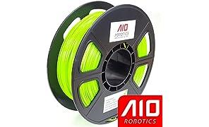 AIO Robotics Filament pour imprimante 3D de haute qualité, PLA, bobine de 0,5 kg, précision +/- 0,02 mm, diamètre 1,75 mm, vert clair