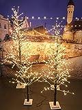 XONE Albero di Natale LED 180 Cm | Albero Luminoso Innevato 270 LED Luce Calda