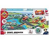 Unbekannt Feuerwehrmann Sam Spielteppich mit Mountain Rescue Motiven inklusive Jupiter Licht und Sound • Spielmatte Kinderteppich Spielzeug Auto