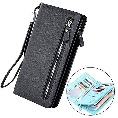 e342d71aa2723 Sunroyal Geldbörse Damen mit RFID Schutz PU Leder Geldbeutel groß