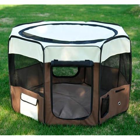 Parque de juego entrenamiento y dormitorio 116x116x71 cm mascotas perro gato
