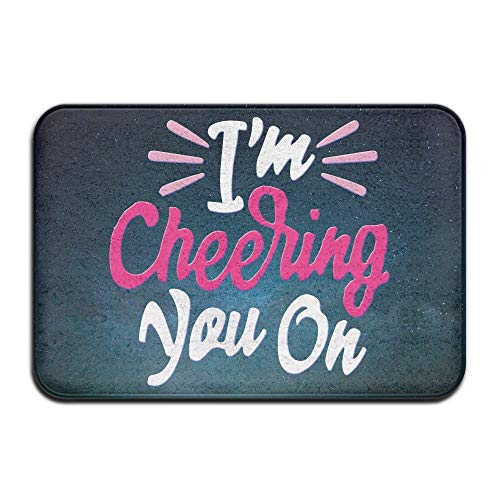 Soft Non-Slip Cheering You On Bath Mat Coral Fleece Area Rug Door Mat Entrance Rug Floor Mats