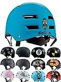Skullcap® BMX Helm ☢ Skaterhelm ☢ Fahrradhelm ☢, Herren | Damen | Jungs & Kinderhelm, schwarz matt & glänzend (Blue Ocean, M (54 - 56 cm))