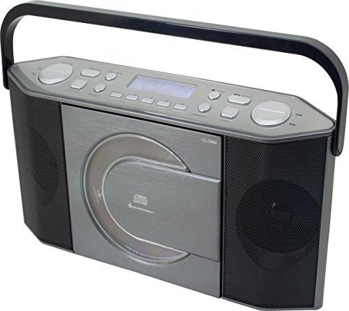 SoundMaster RCD1770AN   CD-Spieler   FM Radio   MP3 Player   DAB +   Tragbares Wiederaufladbares Radio   CD-Rom Player Musical Stereo   Batterie / Betrieben   LCD Display mit Uhrzeit und Datum   USB-Anschluss und Kopfhöreranschluss