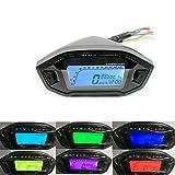 Etbotu 12 V Universal Motorrad LCD Digital 13000 rpm Tacho Hintergrundbeleuchtung Motorrad Kilometerzähler