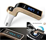 #4: Rewy Carg7 Bluetooth Transmitter In-Car FM Adapter Kit with Tf Card U-Disk Reading and USB Car Charger (Assorted, Rewy Car G7 Bluetooth Car Charger)