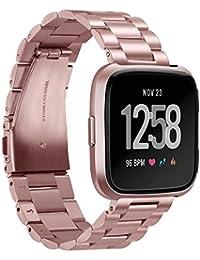 GOSETH® - Correa de Repuesto para Reloj de Pulsera Fitbit Versa, Correa de Piel clásica para Mujeres y Hombres, para Fitbit Versa Fitness Smart Watch